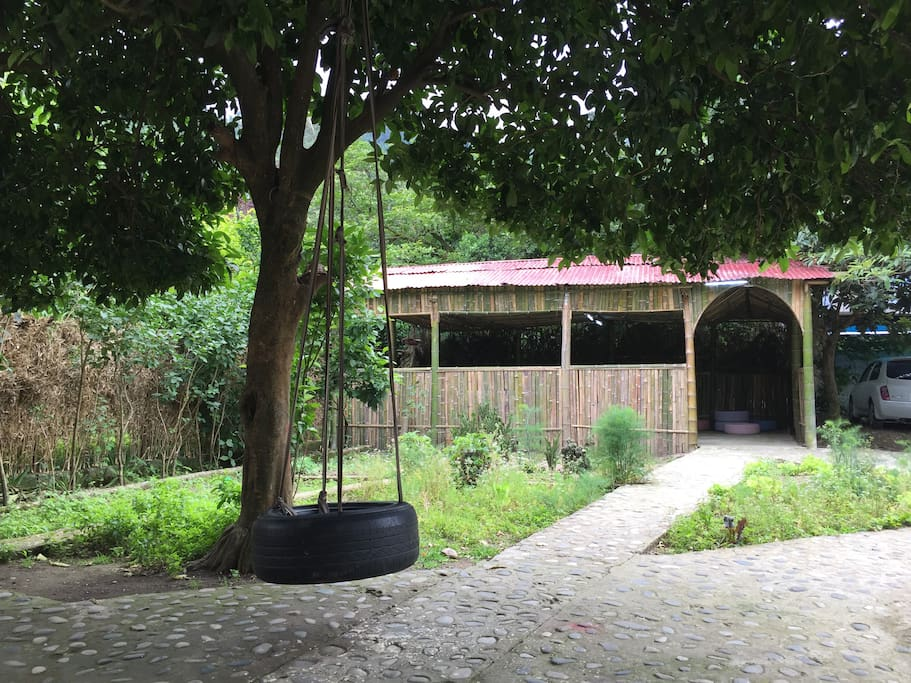 The best part of our house is the amazing yard with all amusement stuff. You are allowed to arrange parties. While having Georgian traditional food in our outdoor terrace, you will definitely enjoy the beauty of the surrounding green environment.