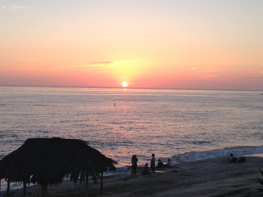 Wind and Sea sunset.