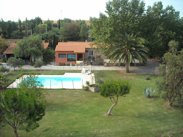 maison en campagne calme et piscine - Bages - บ้าน