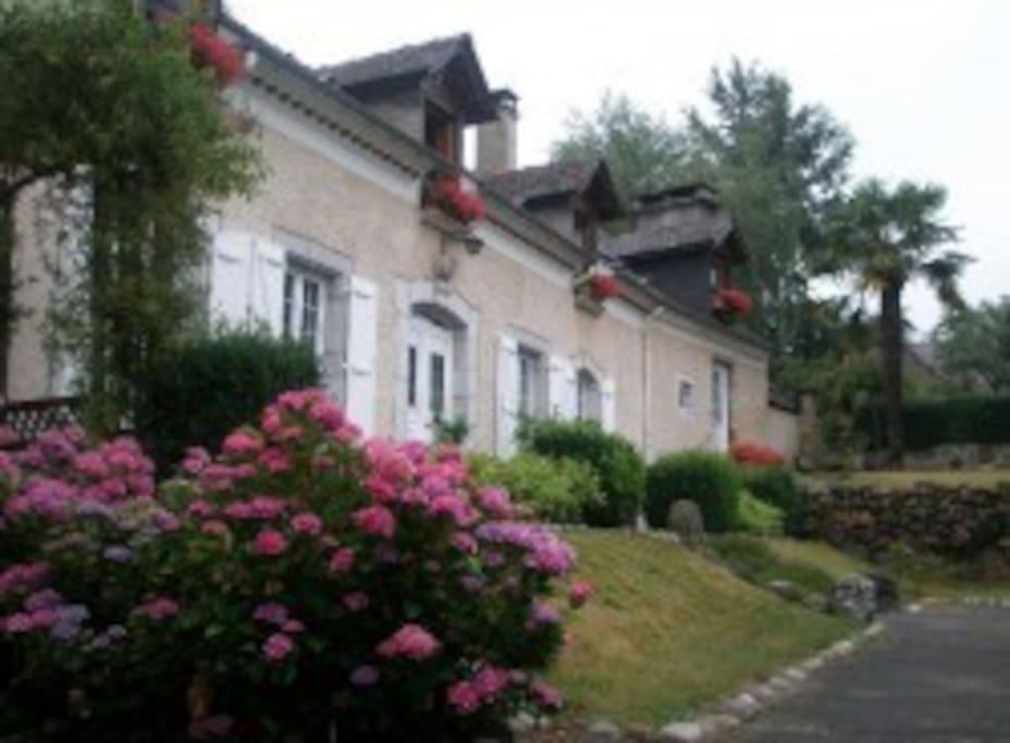 façade sud de la maison