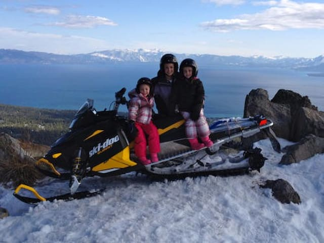 go snowmobiling at the top of brockway Pass, just 2 min away