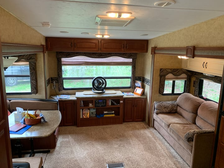 Charming RV in a gated residence with views