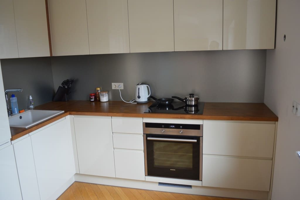 New kitchen which you can use anytime.