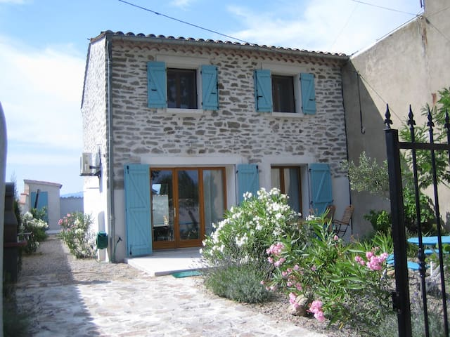 schönes Haus mit Pool und Garten - Castelnau d'Aude - Casa