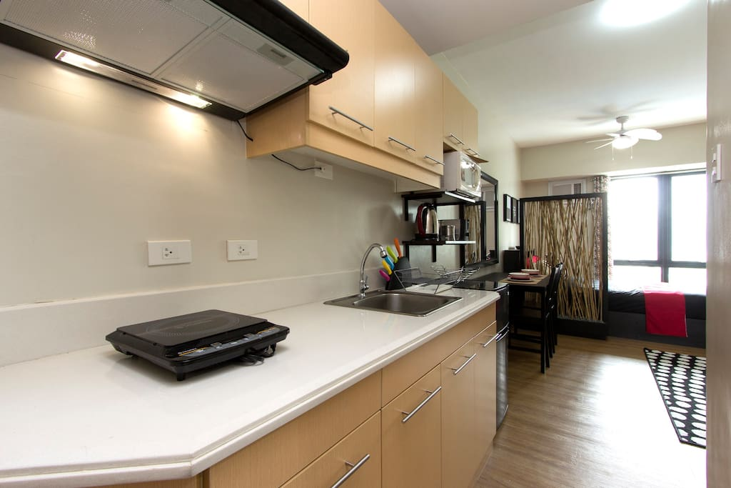 Fully equipped kitchen space