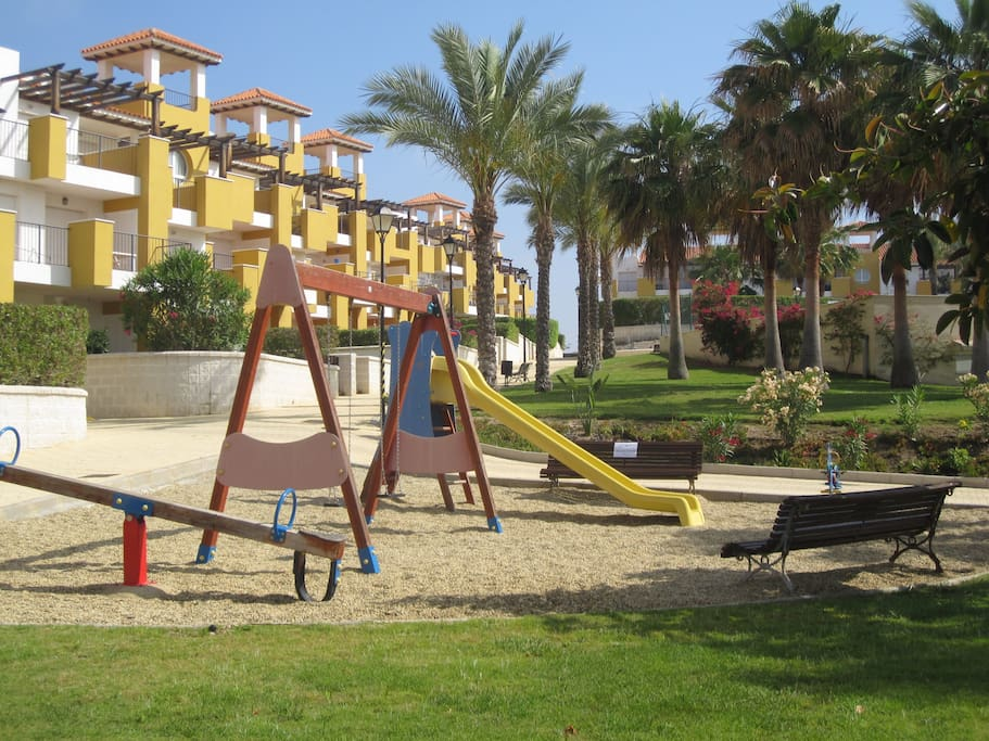 Secure children's play area