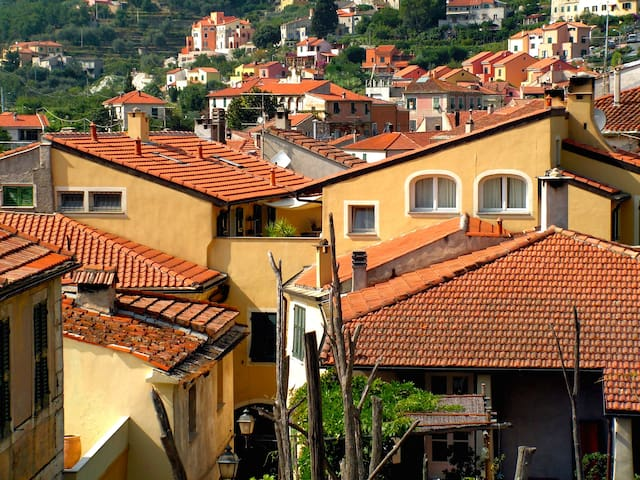 Attic apartment in an ancient house - Calice Ligure