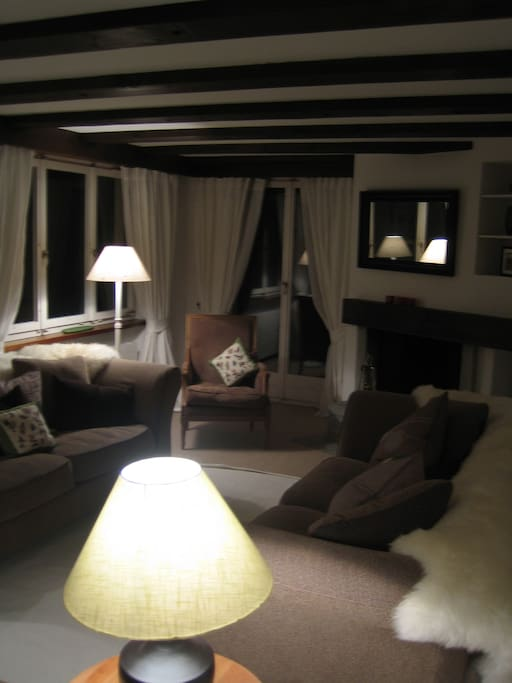 Sitting room at night