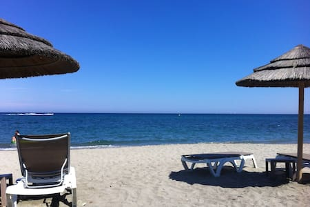 Large 3 rooms flat / Front beach - Santa-Lucia-di-Moriani - Apartamento