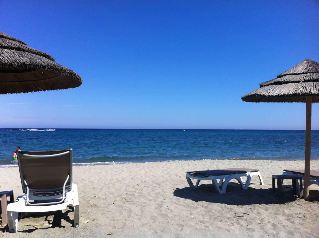 la plage privative