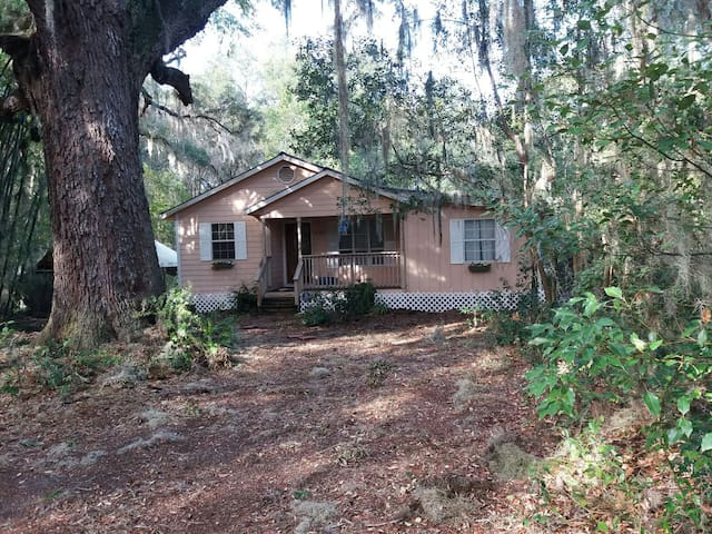 Cozy cottage nestled on nine secluded acres - Eustis - Talo
