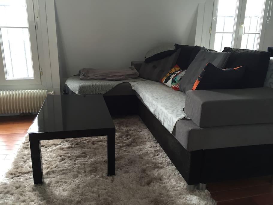 Large and convertible sofa