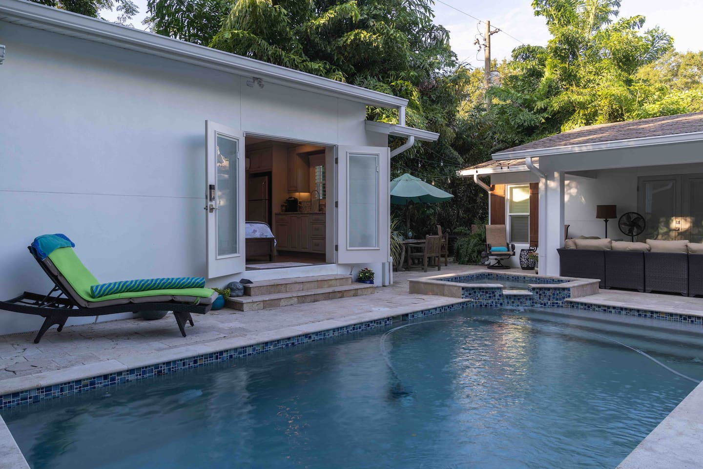 Exterior Patio and Pool Area