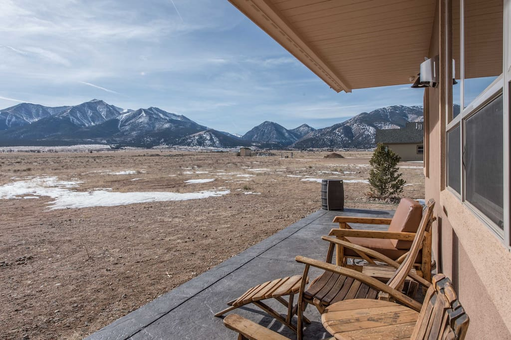 Step outside and enjoy the stunning mountain vistas!