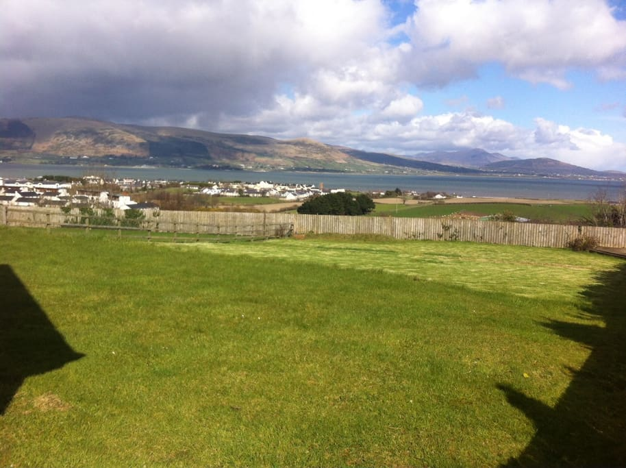View over Carlingford Lough from the back garden