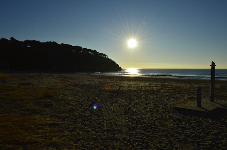 A  5' caminant platja La Mora i Castell de Tamarit