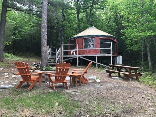Full view of campsite.