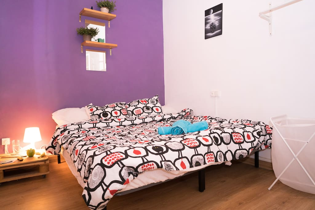 One large double bed or two single beds available. The choice is yours