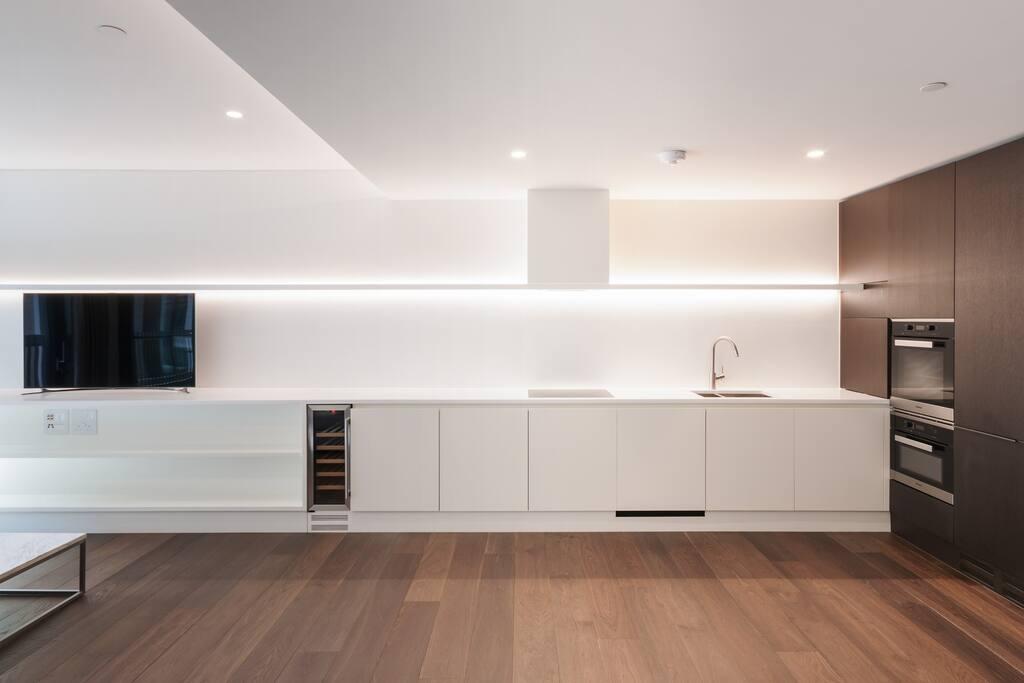 Sleek, high-design kitchen.