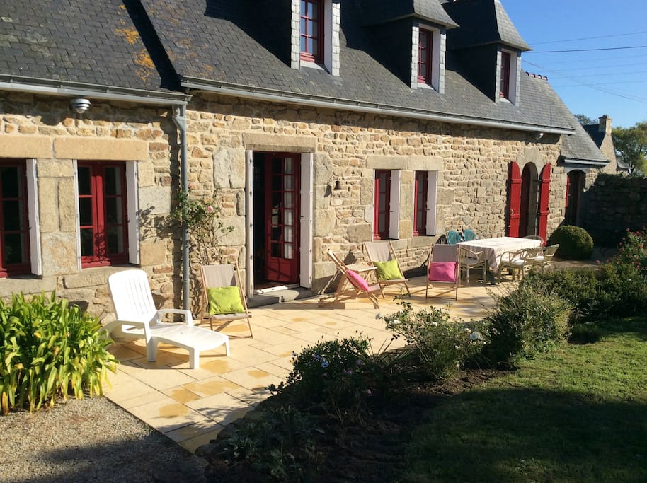 maison typique bretonne pour 8 pers houses for rent in plouguerneau bretagne france. Black Bedroom Furniture Sets. Home Design Ideas