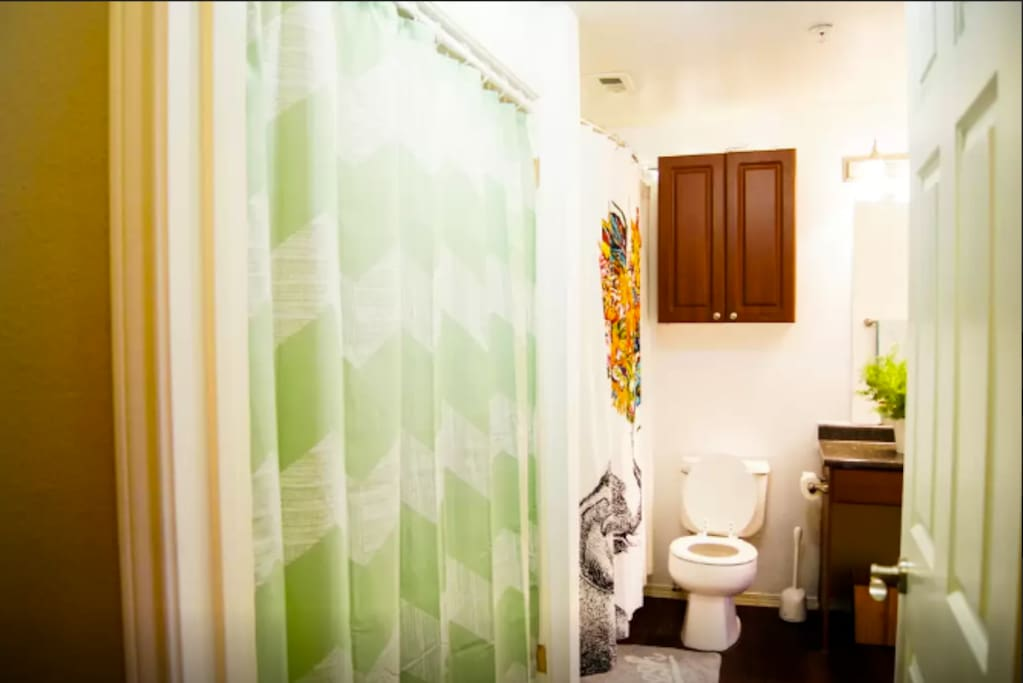 Bathroom view from main entryway.