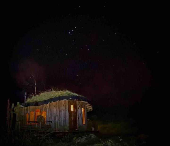 Cosy Wooden Fairy house stunning views organicfarm