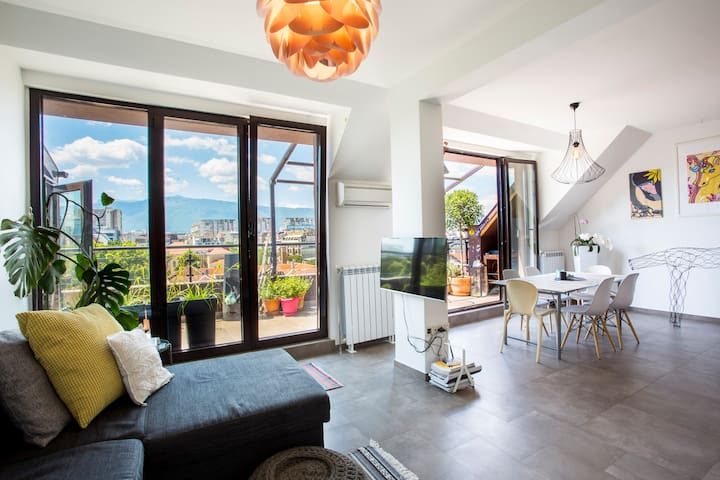 Stylish penthouse in historical city center