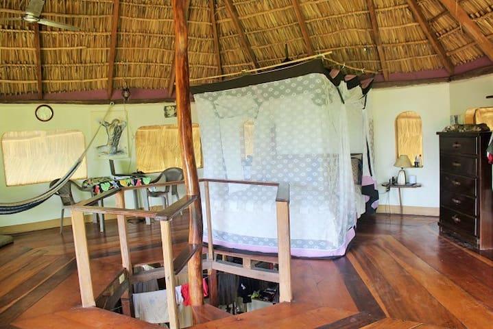 Interior - queen bed, WIFI, ceiling fan