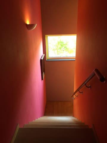escalier pour arriver à l'étage