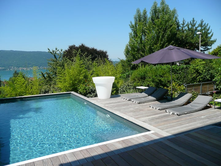 Ravissante villa vue lac