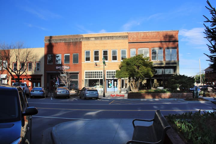 Historic Loft in Heart of Downtown! - Hendersonville - Byt