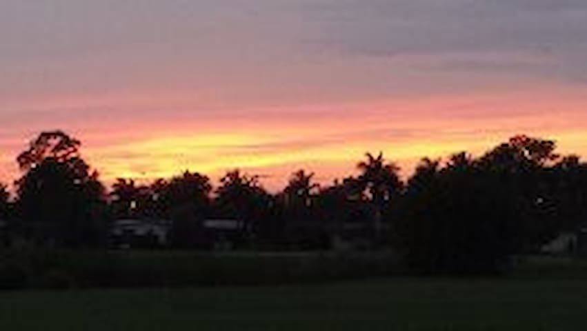 Sunset views on golf course