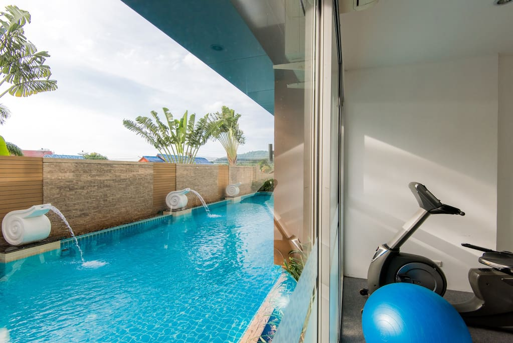 common swimming pool and gym