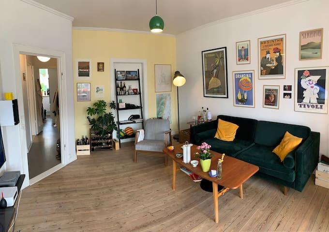 Spacious and bright apartment at Østerbro