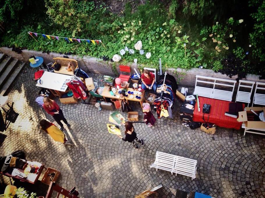 Our own little flea market in the backyard