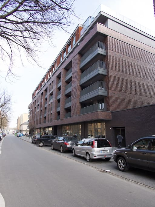 View from the street at the building of Nadwislanska 11