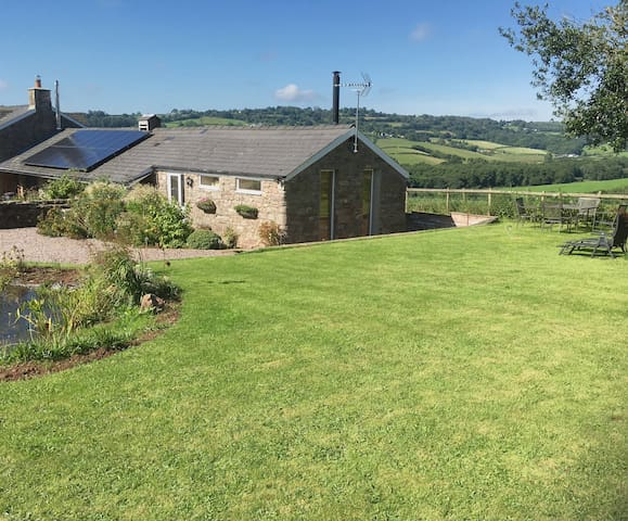 Pet friendly barn with views and green credentials