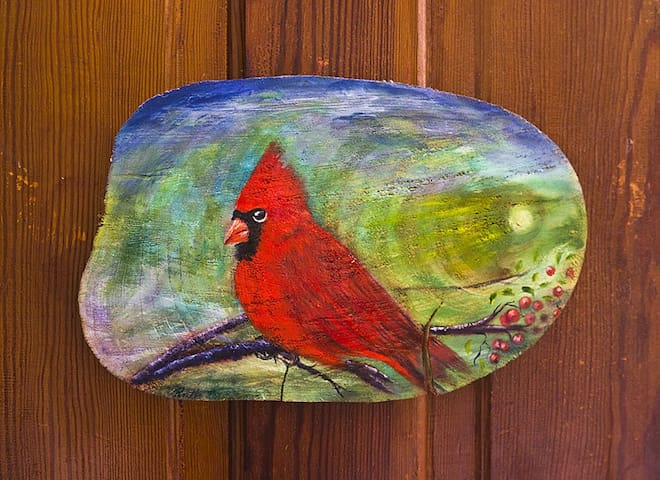 The Cardinal Room at the Laughing Heart Lodge