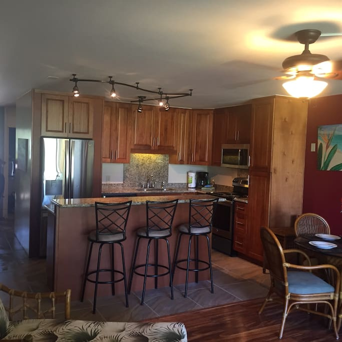 Updated kitchen with granite countertops and NEW stainless steel appliances