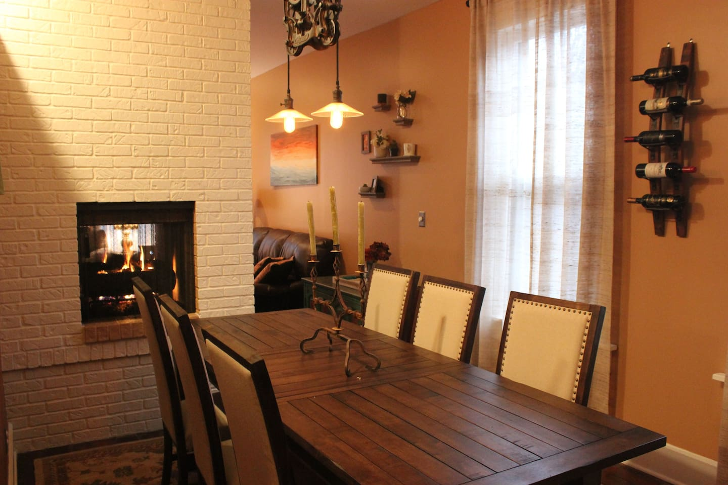 Dining Room w/ gas fireplace
