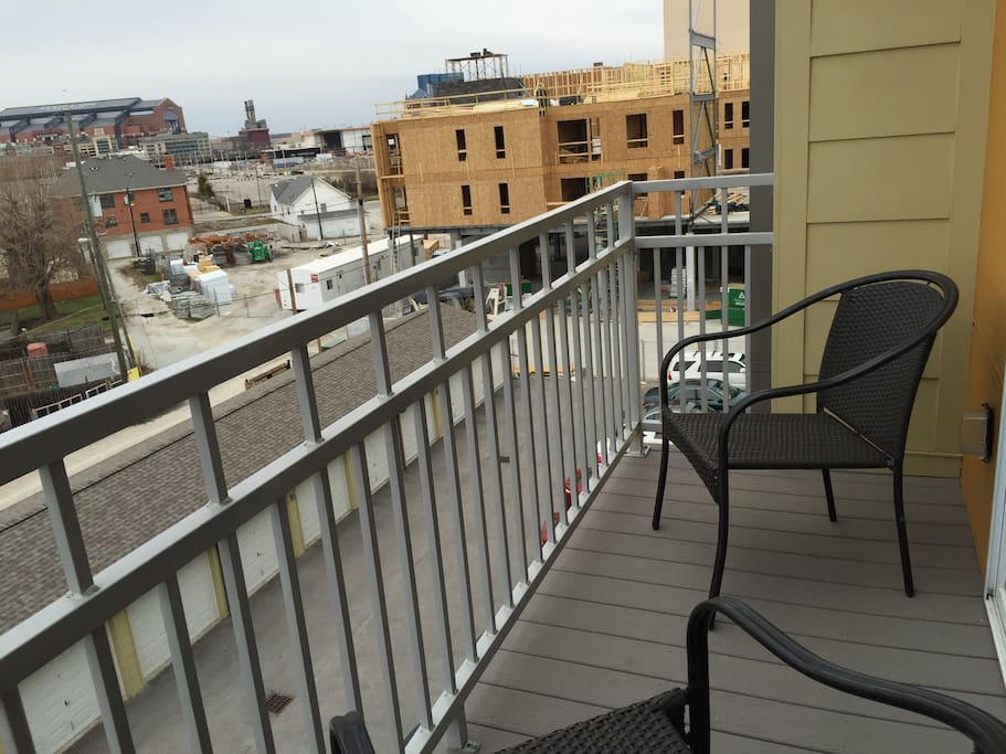 Balcony with a view of Lucas Oil Stadium & JW Marriott
