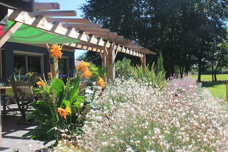 Chambres, spa et panorama champêtre - Dům