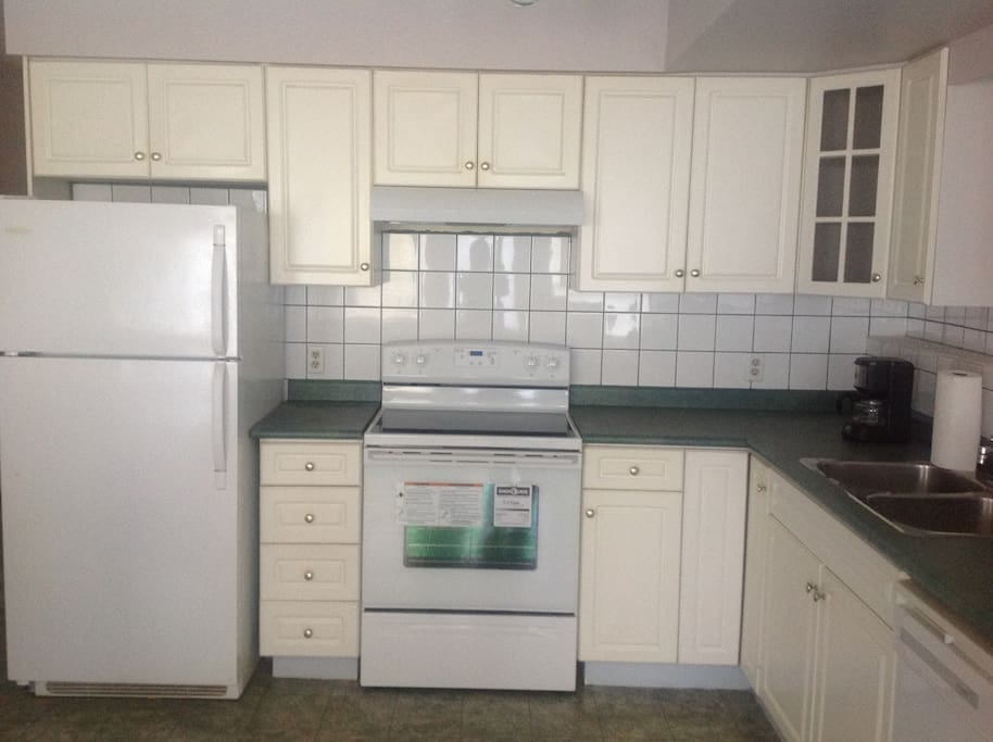 Full sized kitchen. Brand new stove and hood.