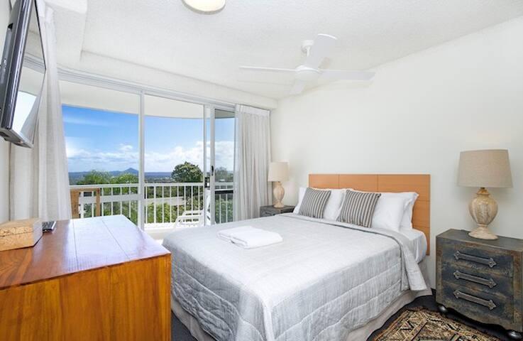 Master bedroom and balcony