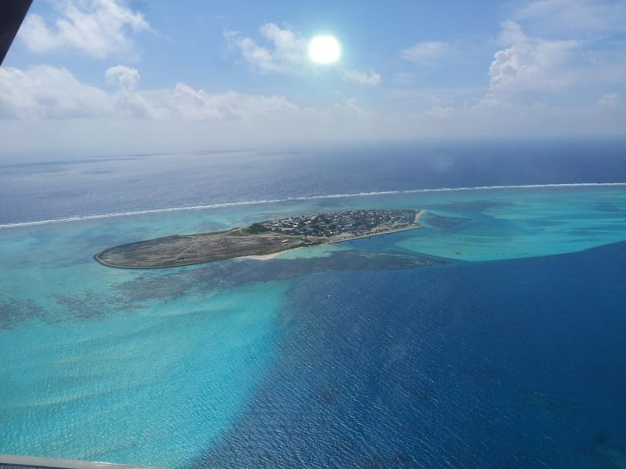 Arial photo of Thulhaadhoo