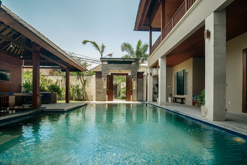 The private pool is all yours to enjoy