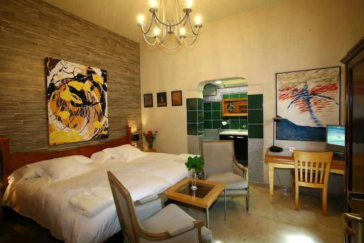 Habitación Doble Hotel 4* - Ballesteros de Calatrava - Wikt i opierunek