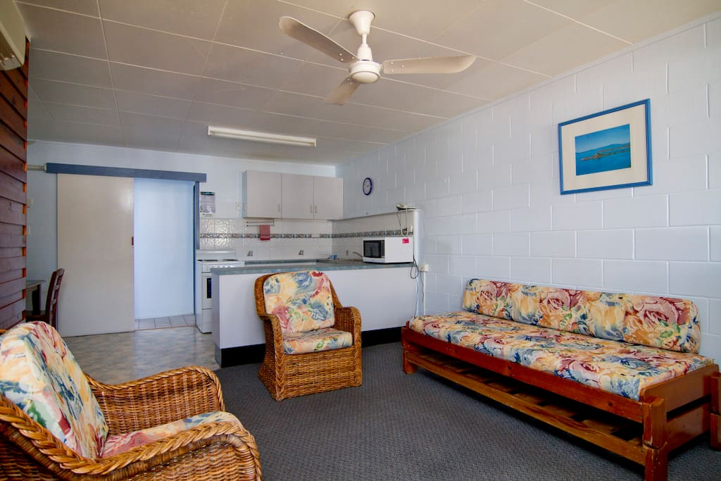 Very spacious, with heaps of room for a large family.  Your home away from home.