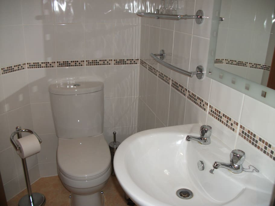 En-suite with w/c basin and shower