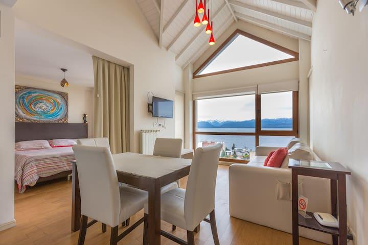 UNBELIEVABLE LAKE VIEW IN DOWNTOWN - San Carlos de Bariloche - Apartemen